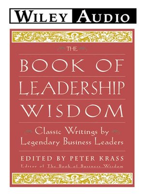 cover image of The Book of Leadership Wisdom