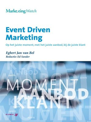 cover image of Event Driven Marketing