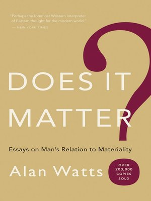 cover image of Does It Matter?