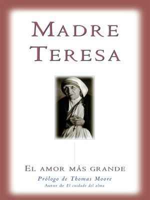 cover image of El amor mas grande
