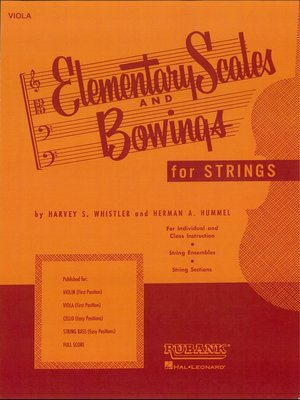 cover image of Elementary Scales and Bowings--Viola (Music Instruction)
