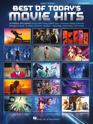 cover image of Best of Today's Movie Hits  Easy Piano Songbook