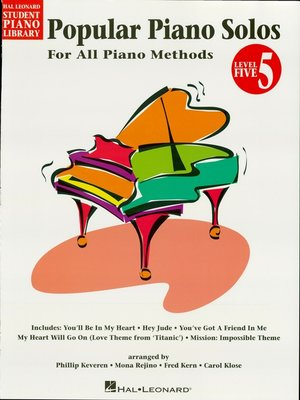 cover image of Popular Piano Solos--Level 5 (Songbook)