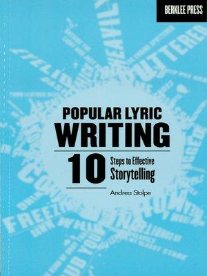 cover image of Popular Lyric Writing