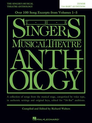 "cover image of The Singer's Musical Theatre Anthology--""16-Bar"" Audition"