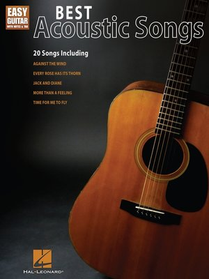 cover image of Best Acoustic Songs for Easy Guitar (Songbook)