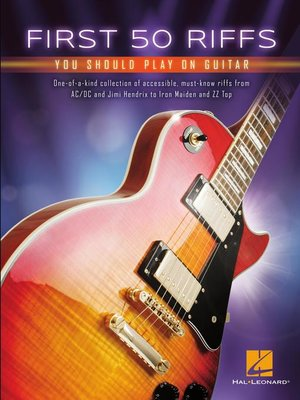 cover image of First 50 Riffs You Should Play on Guitar