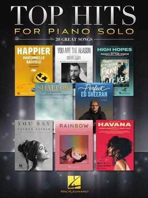 cover image of Top Hits for Piano Solo