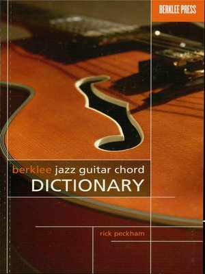 cover image of Berklee Jazz Guitar Chord Dictionary