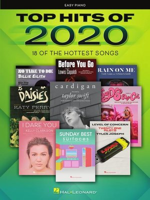 cover image of Top Hits of 2020 Easy Piano Songbook