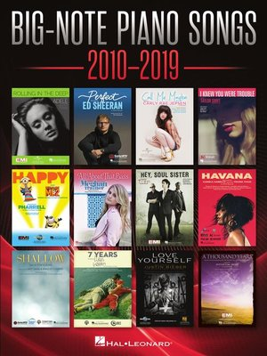 cover image of Big-Note Piano Songs 2010-2019