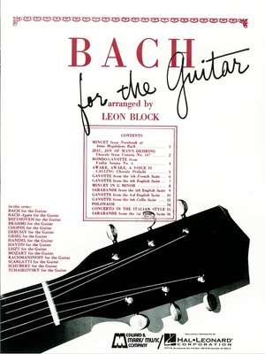 cover image of Bach for Guitar (Songbook)