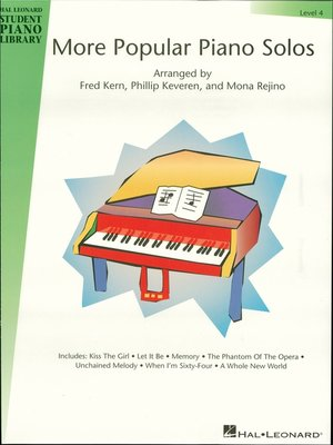 cover image of More Popular Piano Solos--Level 4 (Songbook)