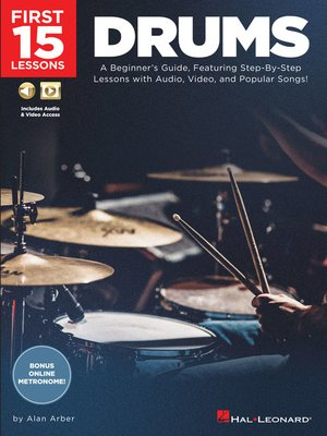cover image of First 15 Lessons--Drums