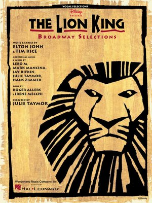cover image of The Lion King--Broadway Selections Songbook