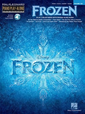 cover image of Frozen--Piano Play-Along Songbook (with Audio)