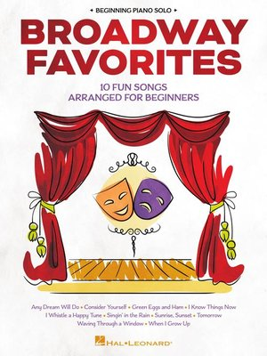 cover image of Broadway Favorites--Beginning Piano Solo Songbook