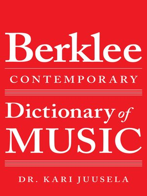 cover image of The Berklee Contemporary Dictionary of Music
