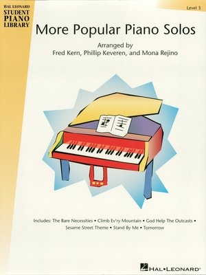 cover image of More Popular Piano Solos--Level 3 (Songbook)