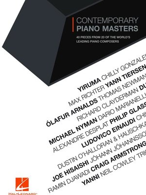 cover image of Contemporary Piano Masters