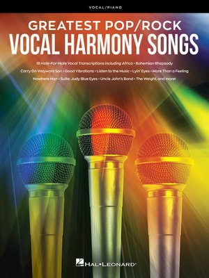 cover image of Greatest Pop/Rock Vocal Harmony Songs