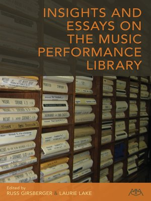 cover image of Insights and Essays on the Music Performance Library