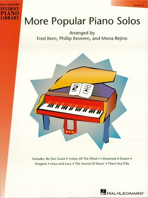 cover image of More Popular Piano Solos--Level 5 (Music Instruction)