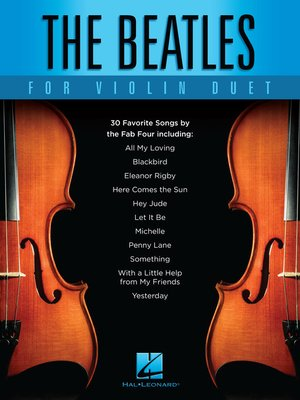 cover image of The Beatles for Violin Duet