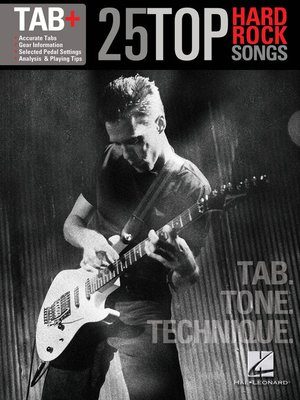 cover image of 25 Top Hard Rock Songs--Tab. Tone. Technique. (Songbook)