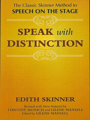 cover image of Speak with Distinction