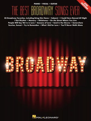 cover image of The Best Broadway Songs Ever  Songbook