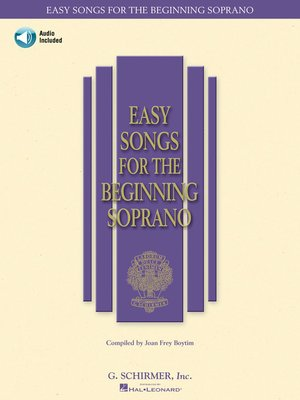 cover image of Easy Songs for the Beginning Soprano