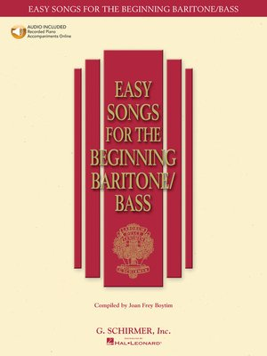 cover image of Easy Songs for the Beginning Baritone/Bass
