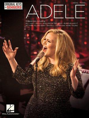 cover image of Adele--Original Keys for Singers