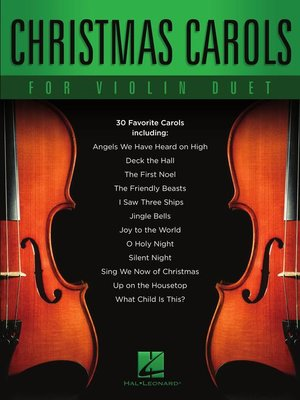 cover image of Christmas Carols for Violin Duet