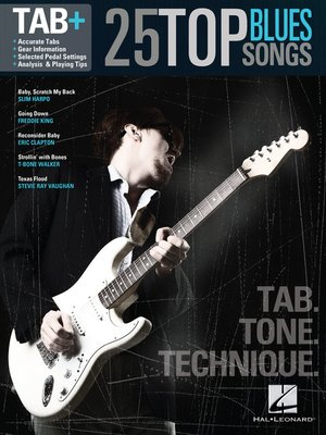 cover image of 25 Top Blues Songs--Tab. Tone. Technique.