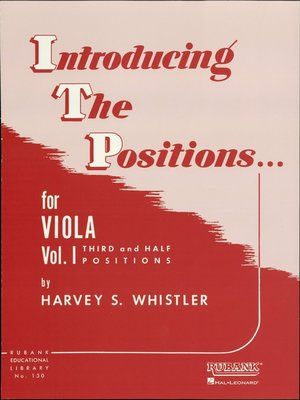 cover image of Introducing the Positions for Viola (Music Instruction)