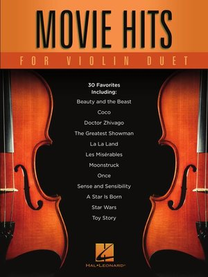 cover image of Movie Hits for Violin Duet