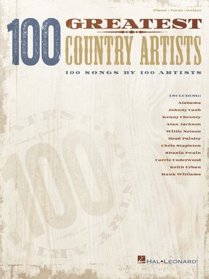 cover image of 100 Greatest Country Artists