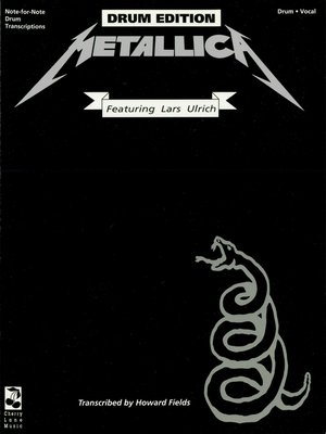 cover image of Metallica--Black (Drum Songbook)