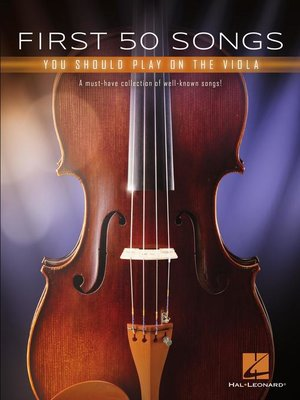 cover image of First 50 Songs You Should Play on the Viola