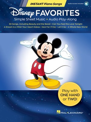 cover image of Disney Favorites--Instant Piano Songs