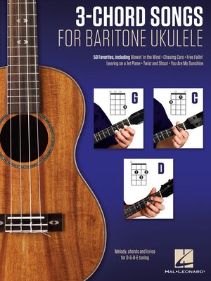 cover image of 3-Chord Songs for Baritone Ukulele (G-C-D)
