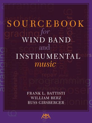 cover image of Sourcebook for Wind Band and Instrumental Music