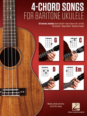 cover image of 4-Chord Songs for Baritone Ukulele (G-C-D-Em)