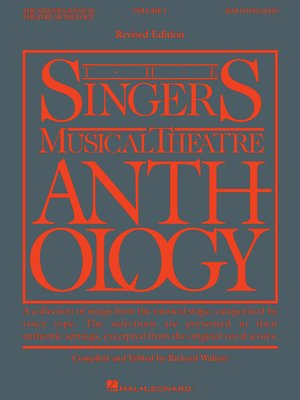 cover image of The Singer's Musical Theatre Anthology--Volume 1