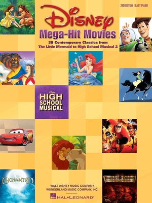 cover image of Disney Mega-Hit Movies--Easy Piano (Songbook)