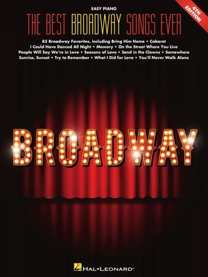 cover image of Best Broadway Songs Ever  Songbook