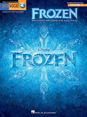 cover image of Frozen--Pro Vocal Songbook (with Audio)