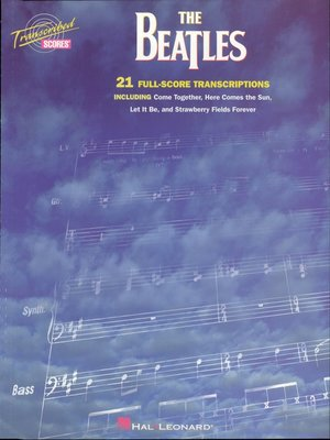 cover image of The Beatles Transcribed Scores (Songbook)